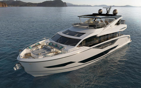 Brandnew Sunseeker 87 with Fly""