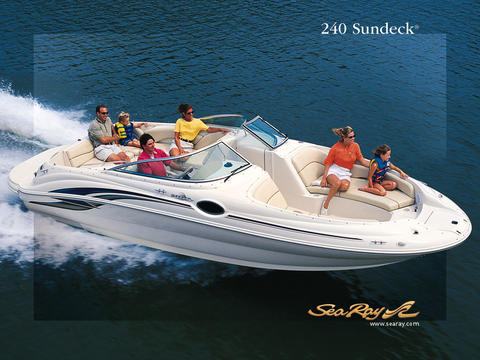 motorboot Sea Ray 240 Sundeck